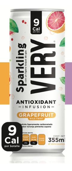 Bebida Sparkling Very Grapefruit Toronja 9 Calorias