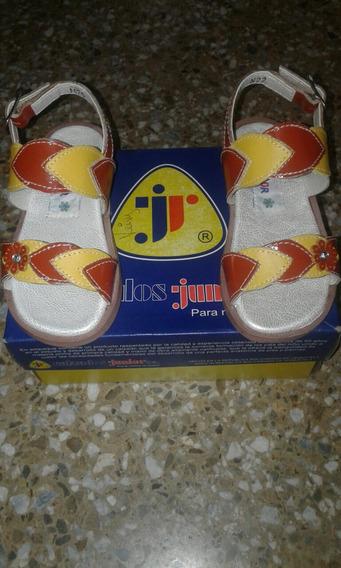 Sandalias Para Niñas Marca Junior Talla 22 Y 24 Originales!!
