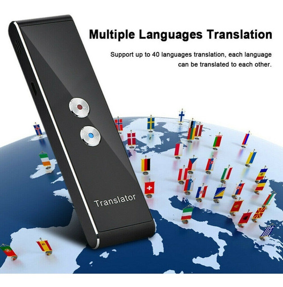 Tradutor Translator Portátil Voz Inteligente Multilínguas