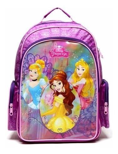 Mochila De Costas Princesas Disney Dermiwil Glitter