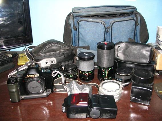 Câmera Canon T90 - Flash - Lentes - Acessorios