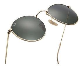 41c4dd008a Gafas De Sol Ray Ban Round Metal 3447 Italianos Originales!
