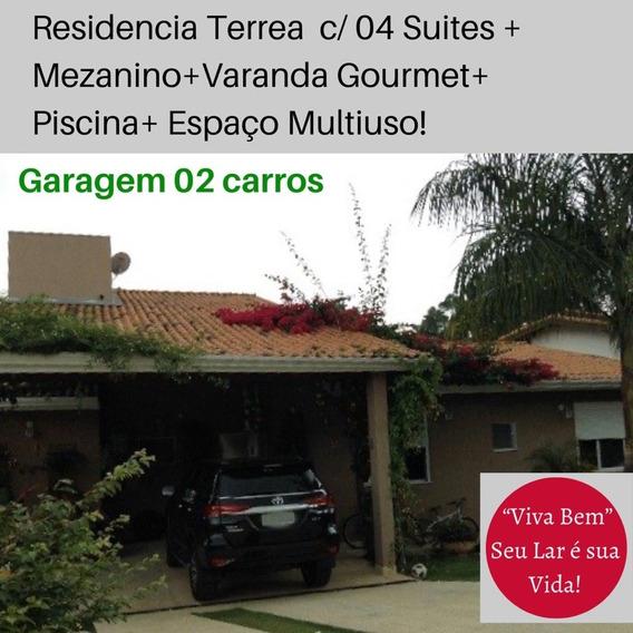 Casa Térrea Com 4 Suites - Condominio Fechado Granja Viana