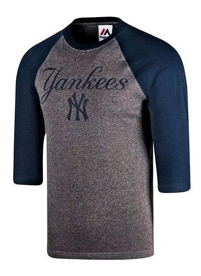 Playera Beisbol Caballero Yankees Majestic Mffr183bnk S5