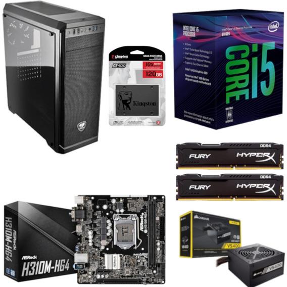 Pc Cougar Intel I5 8400 Mb H310m Hg4 Hx 16gb Vs400 Ssd 120gb