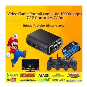 Retro Pi3 Game Retrô 9400 Jogos 32gb 2 Controles + Tecla