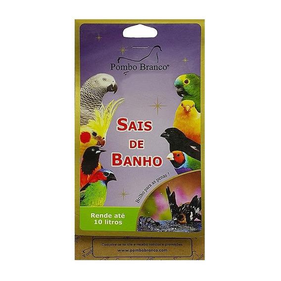 Sais De Banho Pombo Branco Pássaros - 50g