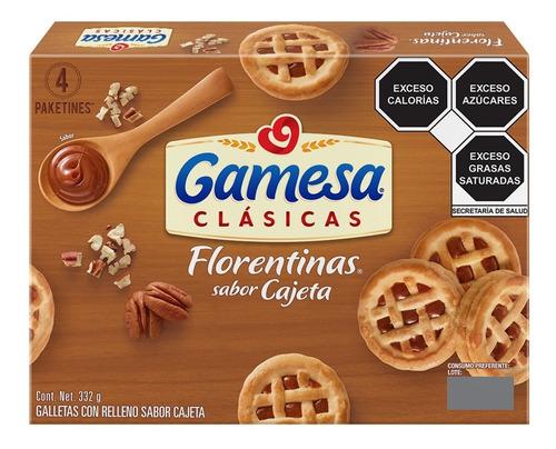 Imagen 1 de 3 de Galletas Gamesa Florentinas Sabor Cajeta 332 G