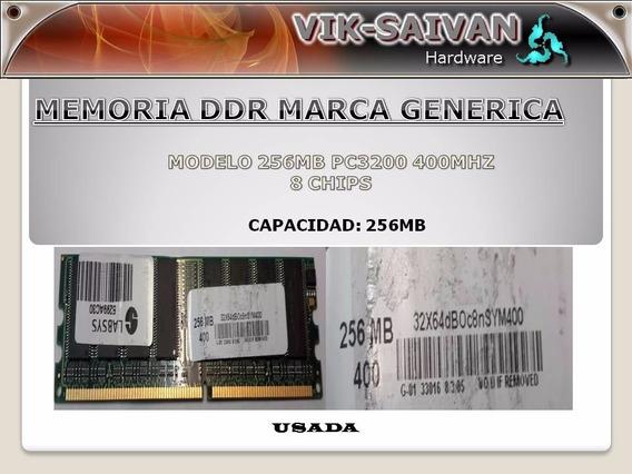 Memoria Ddr Generica 256mb Pc-3200 400mhz 8 Chips 35