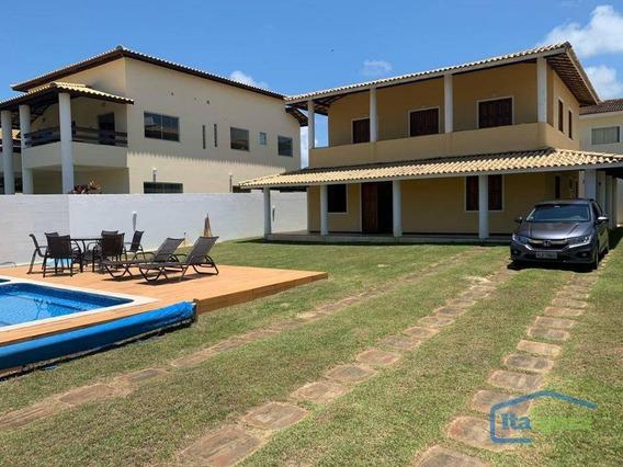 Casa Com 5 Dormitórios À Venda, 260 M² Por R$ 800.000,00 - Barra Do Jacuípe - Camaçari/ba - Ca0179