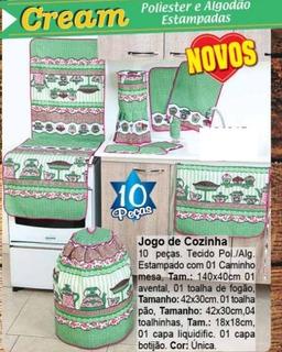 Jogo De Cozinha Kit 10 Peças Panos De Cozinha Promoção
