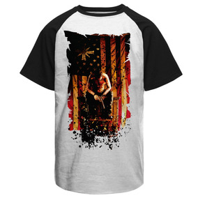 Camiseta Raglan Far Cry 5 Bandeira Gamer Jogos