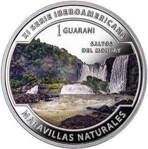 Paraguay Moneda De Plata 1 Guarani 2017 A Color Ibero Saltos