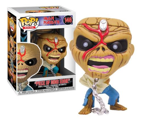 Boneco Funko Pop Rocks Iron Maiden 146 Piece Of Mind Eddie
