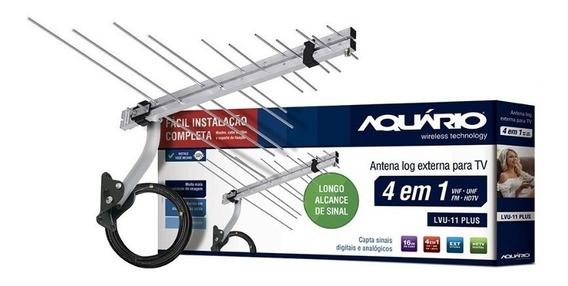 Antena Externa Digital Aquário Hdtv Uhf Fm - Longo Alcance