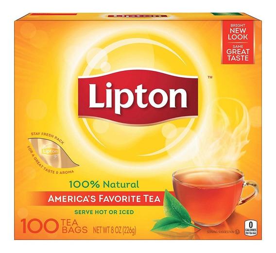 100 Sobres Te Lipton Negro Al Mayor Importado De Usa