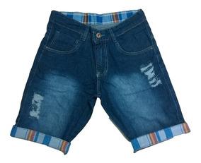 Kit 3 Bermuda Short Jeans Masculina De Marca Skinny Top