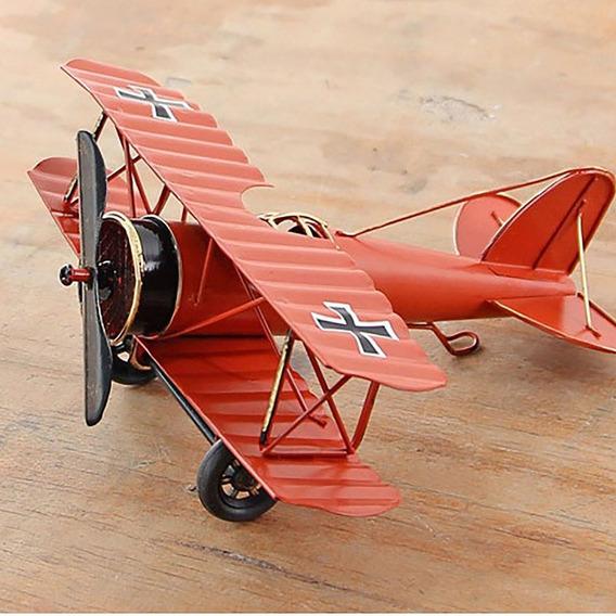 Handmade Forjado Vintage Modelo De Avião Ferro