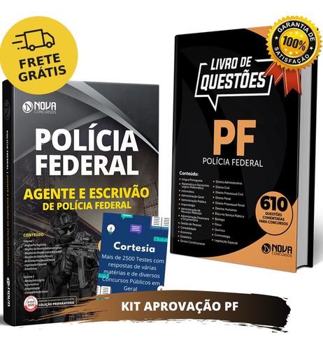 Kit Apostila Pf Agente E Escrivão Polícia Federal + Questões