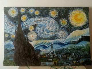 Noche Estrellada Starry Night Van Gogh Cuadro Óleo