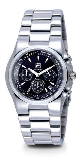 Relógio De Pulso Fila Unissex Pulseira De Aço Fl501-01