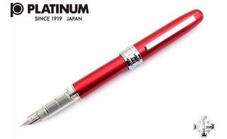 Pluma Fuente Platinum. Roja. Punto M. Tipo Lamy Al-star.
