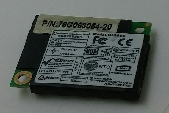 Placa Modem P/ Notebook Philco Phn14103 Ml3054 76g063054-20