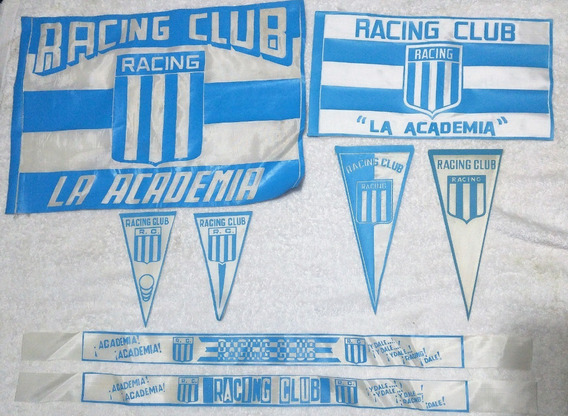 Coleccion Banderas Vinchas Banderines Racing Club Rac 02