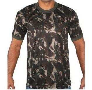 Camiseta Camuflada Dry Fit Exército + Brinde Brevet