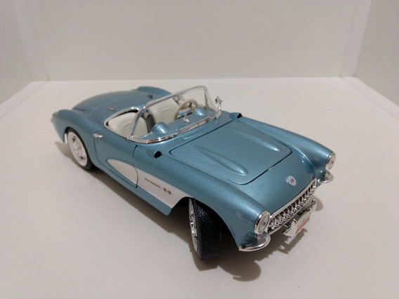 Miniatura Carro Corvette 1957 Yat Ming 1:18