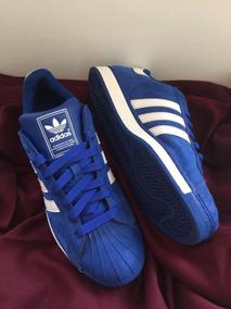 Tenis adidas Hombre Azul , De Concha Con Terciopelo 31 Mex