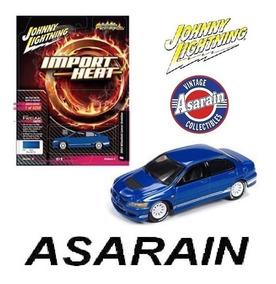 Mitsubishi Lancer Evolution Azul Johnny Lightning 1/64