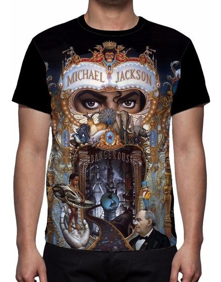 Camisa, Camiseta Michael Jackson Dangerous - Frente