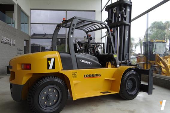 Autoelevador Lonking Lg100dt Levante 10tn 124hp