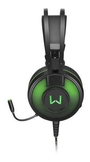Headset Gamer Warrior Raiko Ph259 7.1 Usb Com Led Verde