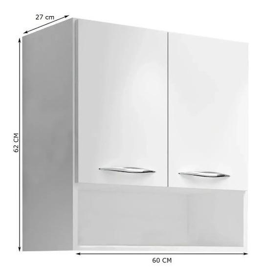 Módulo Aéreo 2 Portas 0,67m Armário Parede Cozinha Multius