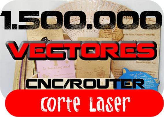 1500000 Vectores Laser Router Cnc Envio X Email