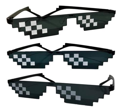 Lentes Gafas De Sol Pixel Pixeladas Minecraft Cotillon