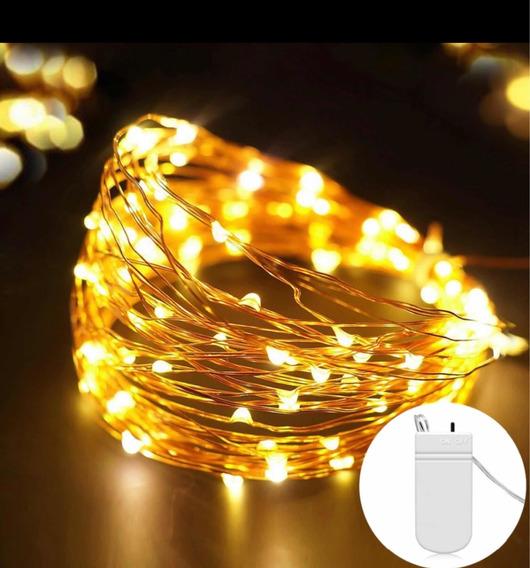 Luz De Led Fio De Cobre Para Decoração - 5m