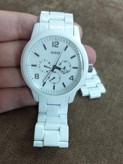Relógio Guess Feminino Branco - Perfeito!