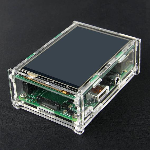 Caixa Acrílica Para 3,5 Pi Tft E Raspberry Pi B+ - Transpare