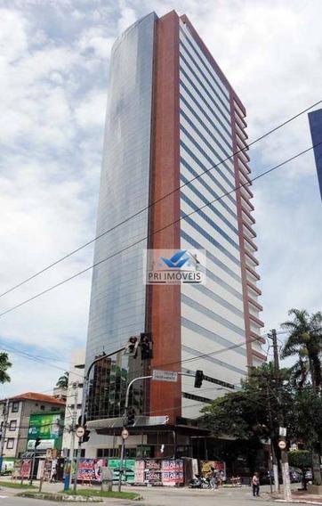 Andar Corporativo Para Alugar, 564 M² Por R$ 19.000,00/mês - Gonzaga - Santos/sp - Ac0006
