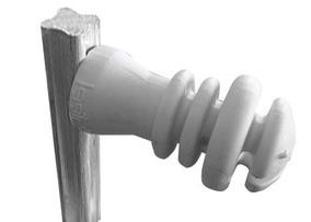 10 Haste Ferro Maciça P/ Cerca Elétrica 4 Isoladores 75 Cm