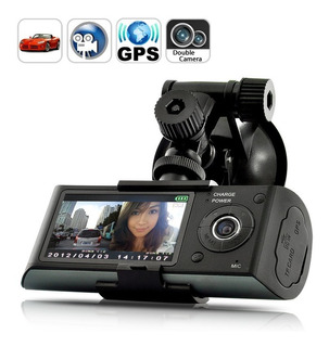 Dual Camera Car Blackbox Dvr Con Gps Logger Y G-sensor Cód