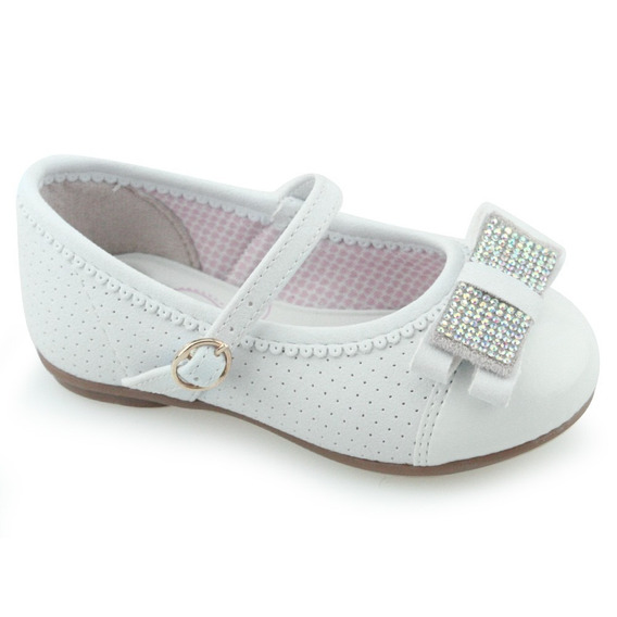 Sapatilha Branca Para Menina Kidy Baby 01502000004
