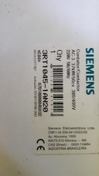 Kit 3 Contactor 1 3tr1046 E 2 3tr1045/54981076597