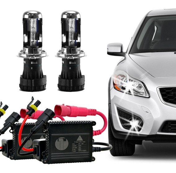Kit Bi Xenon Hid H4-3 6000k Tech One Plug And Play Completo