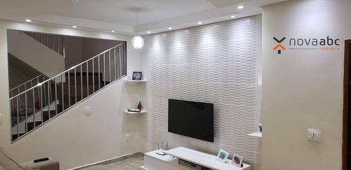 Sobrado Com 3 Dormitórios À Venda, 150 M² Por R$ 445.000 - Jardim Santo André - Santo André/sp - So1006