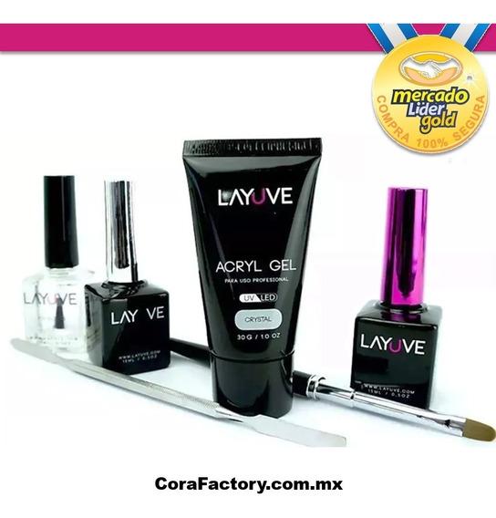 Oferta* Acryl Gel - Kit B - Polygel - Layuve Acrylgel - Env