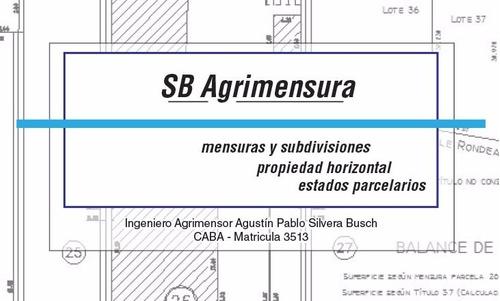 Imagen 1 de 5 de Agrimensor - Servicios De Agrimensura - Ph  Est. Parcelarios